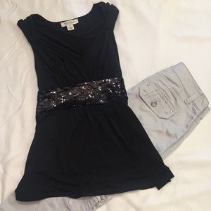 White House Black Market Top Sequins Size Small